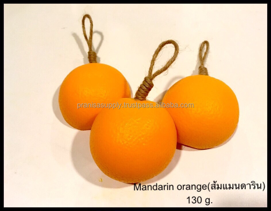 Mandarin orange fruit soap Thailand