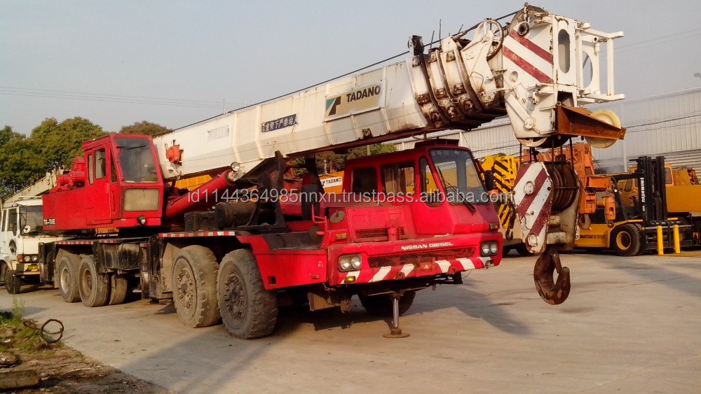 70 ton TADANO mobile crane used crane truck crane TG700E JAPAN origin for sale in shanghai china