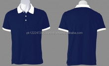 Plain Blue Polo Shirt with white Collar Short Sleeve T-Shirt for Men