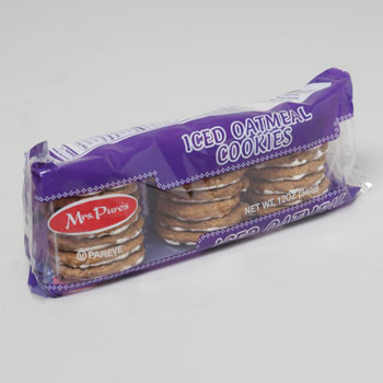 COOKIES ICED OATMEAL 12 OZ TRAYS MRS. PURES #871