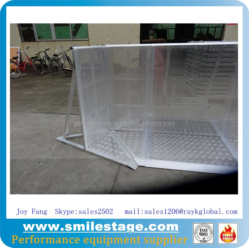 Aluminum Pedestrian Barriers Expandable Security Gates