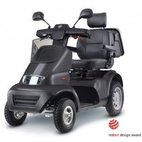 Afikim Breeze S 4-Wheel Scooter with optional Wide Seat and Golf Wheels