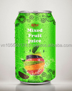 High quality 330ml Aluminum mixfruit drink juice