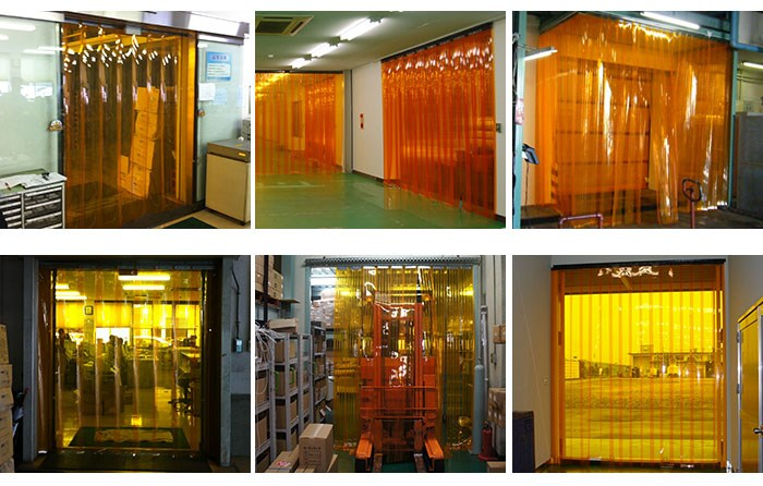 Swallon Co., Ltd. curtain with soundproof, pesticide and cold protection functions. Made in Japan (clear plastic curtain)