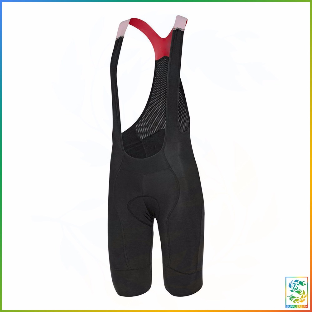 Padded Cycling Bib Shorts Pink/Black