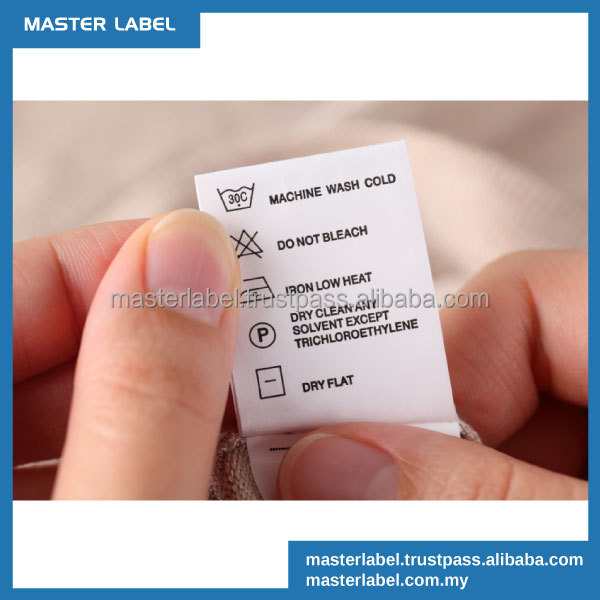 Good value Nylon taffeta Washing instruction wash care labels