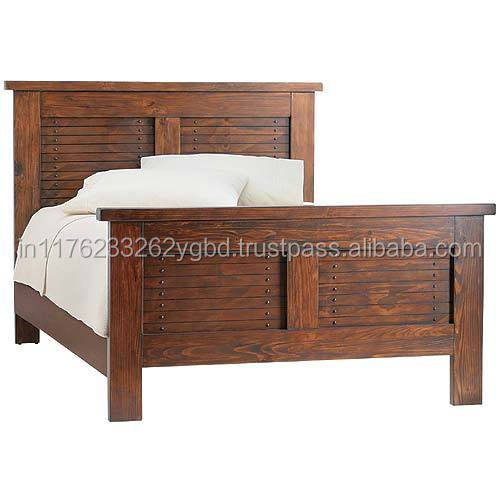 Sheesham Solid Wooden Natural Polish Double Bed