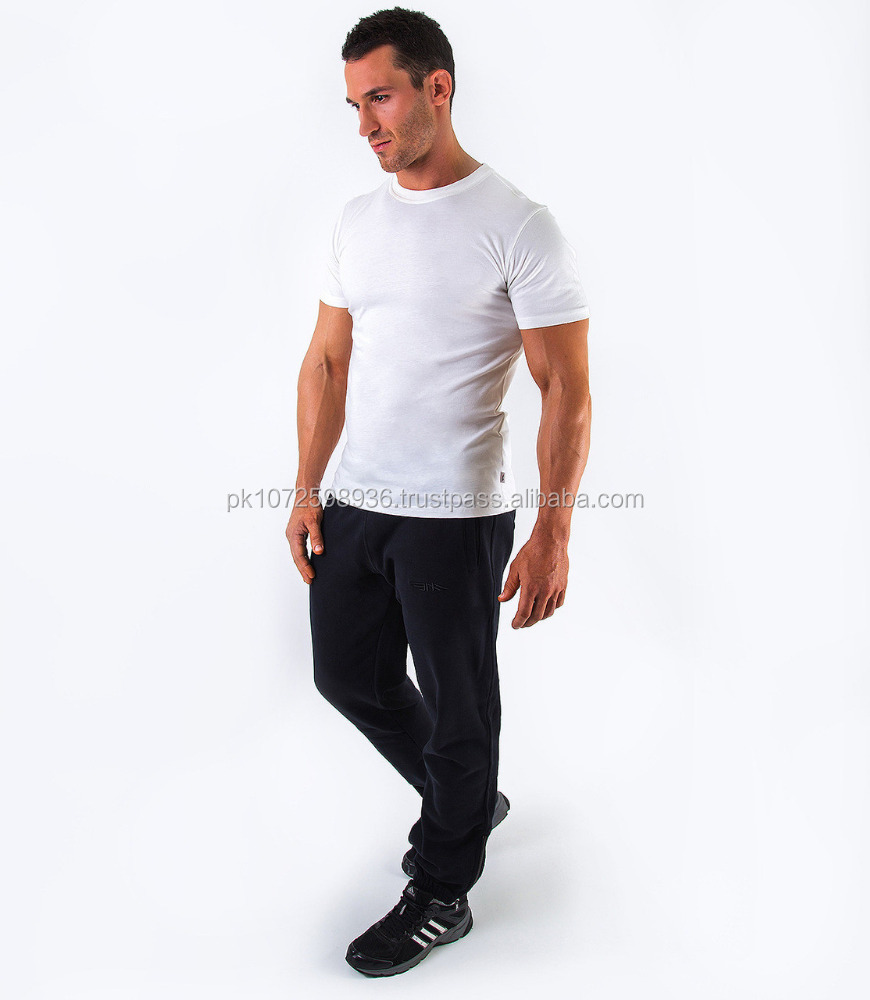 Tight fitted gym t shirt/ mens 100% cotton jersey tshirt for fitness wear/ Men's white Plain t shirt