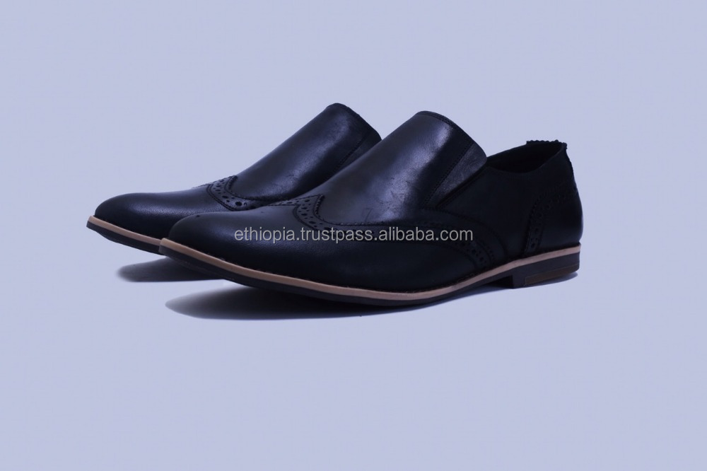 Quality Genuine Leather Fashion Italian style men leather shoes