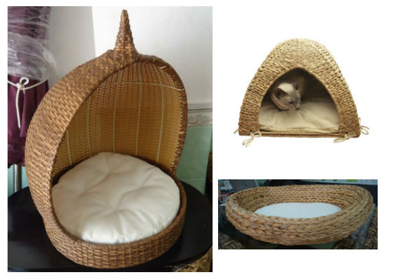 Water hyacinth pet bed/ wicker pet beds/ one cat beds/ one dog beds/ natural wicker pet beds/ cheap pet beds