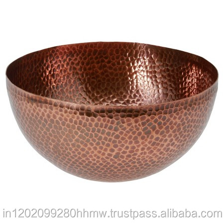 Hammered Copper Serving Bowl