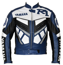Yamaha R1 Motorcycle Real Leather Jacket Motorbike Racing Jacket,CE,COWHIDE