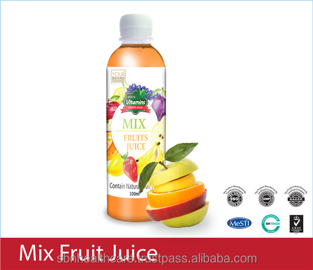 Mixed Fruit Juice / Vitamin Drinks from Malaysia with Healthy & Vitamin with HALAL