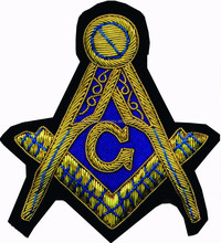 Masonic Badge, masonic Patch, Hand Embroidery Masonic Lodge Badges