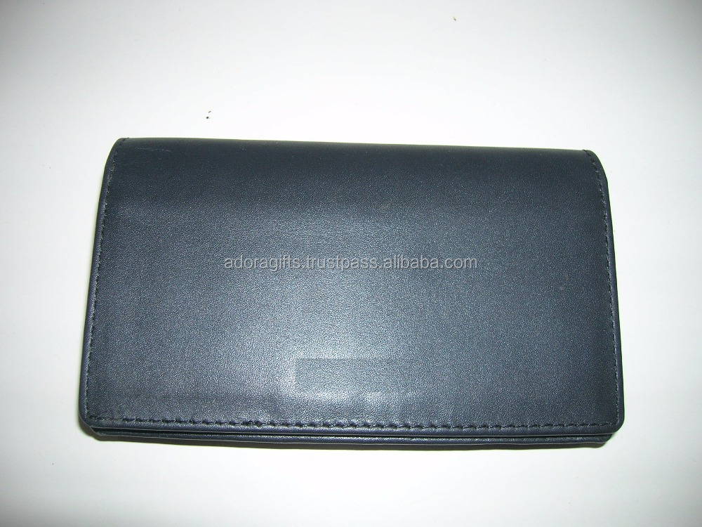 Mobile phone leather flip cover for any model / black color mobile pouch
