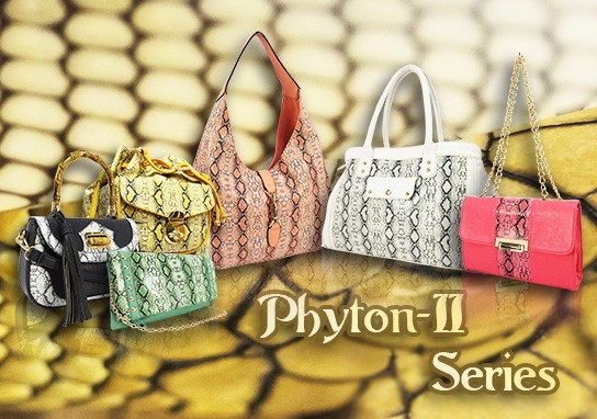 Phyton Seris PU Leather Handbag