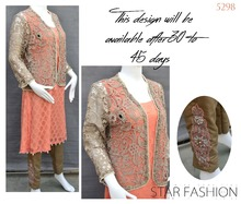 PAkistani Elegant Semi Formal designer Chiffon Cotton Net Embroidered and Cut work net dresses salwaar kameez