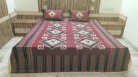 KRISHNA DOUBLE BED SHEET ABSTRACT DESIGN WITH MULTI COLOR