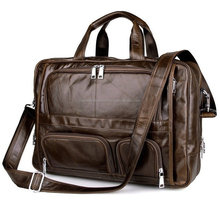 Leather Briefcase Men leather laptop bag leather messenger bag