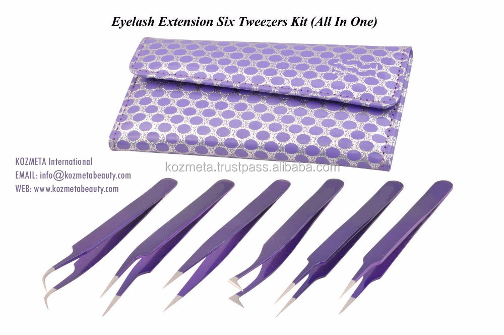 Tweezers for Ingrown Hair Sparkles with Super Cute New Purple Case/ Precise Stainless Steel Tweezers for Ingrown Hair
