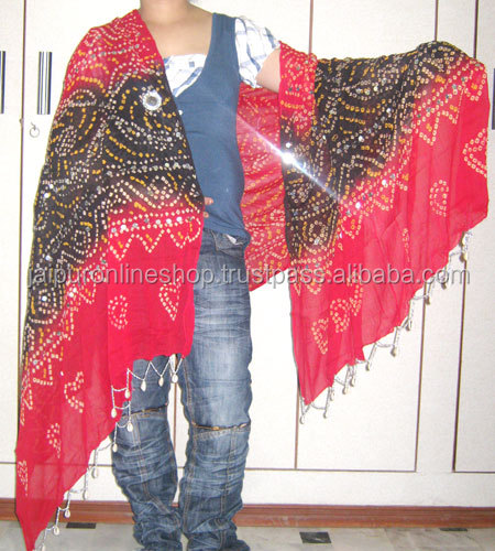 Silk Reversiable Printed Girls Fashion Wear Shawl