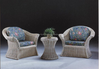 Product rattan round corner sofa for living room