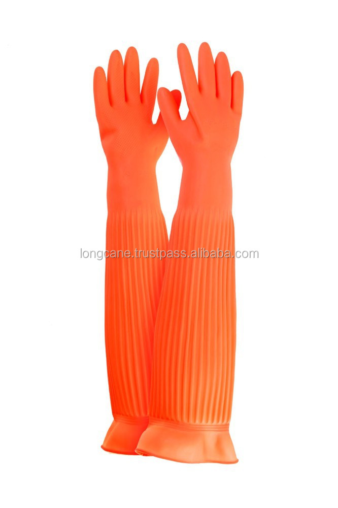 "15''/17""/22"" Extra Long Rubber Gloves / Long Household Rubber Gloves"