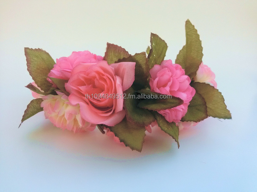 Rose Flower Hair Hairband, Handmade Fashionable Hair Accessories for Children and Adults