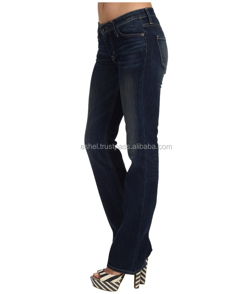 Fashion Women Clothing Bell Bottom Jeans for Women Long Pants Flare Trousers Slim Denim Pants Mid Waist Jeans