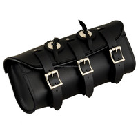 Choppers Motorcycle Tool Kit carrier Bag. Top Quality Leather Motorcycle bag. Buckle strap tool bag for easy hanging
