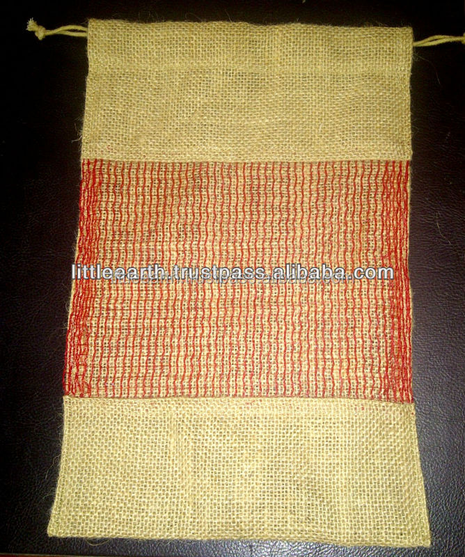 jute bag with window, Food Grade Jute Bag, Vegetable oil processed jute bag