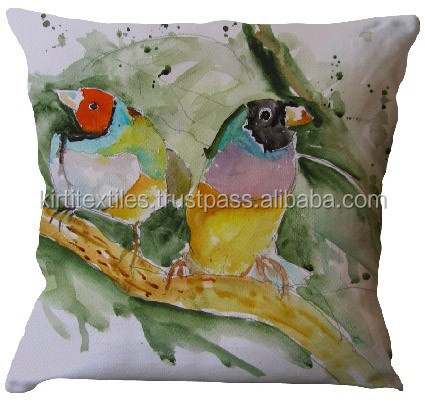 KTDC-06 2015 New wholesale beautiful love bird designer digital printing cushion cover