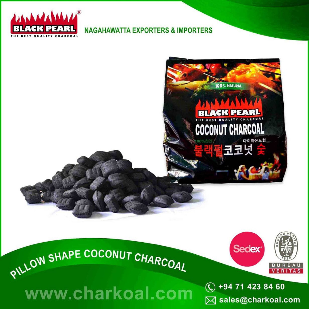 Private Label available in Pillow Shape Charcoal in Bulk
