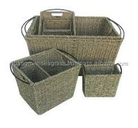Cheap, Convenient Rectangle seagrass storage basket, wicket basket made in Vietnam