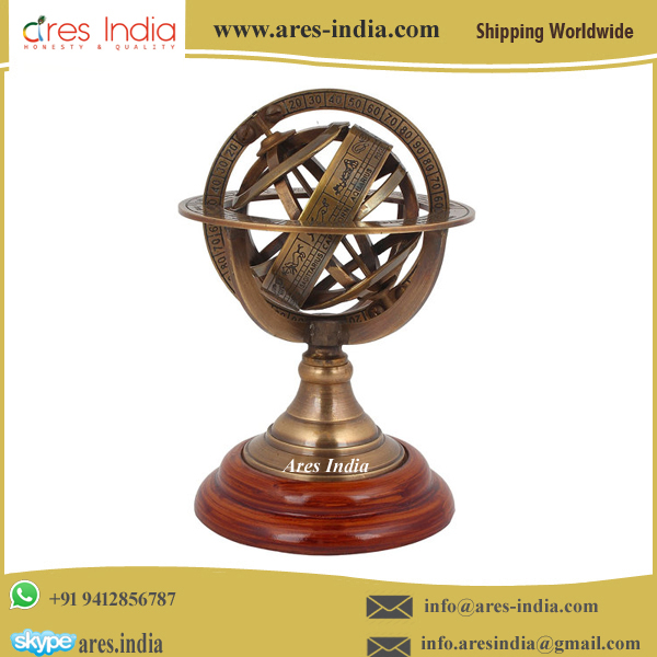 Excellent Quality Armiliary Globe Metal Craft Available at Lowest Market Rate