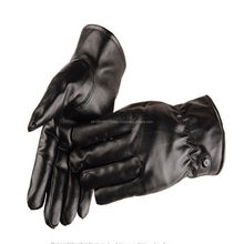 Latest Design High Quality Plain Leather Fashion Gloves For Men