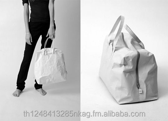 LillikBangkok B01 White : Tyvek Bag Waterproof Recycleable Designed by lillikbangkok 2017