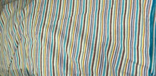 Hand woven cotton stripe fabric