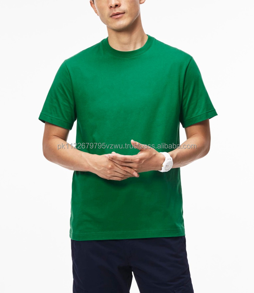 Top Selecting Product Soft and comfortable Single color Green Short Sleeves T-shirt