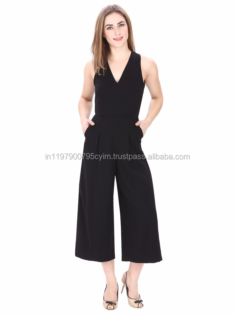 MansiCollections Chic Classic Black Jumpsuit