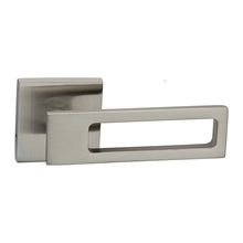 Zinc Lever Handle on Square Rose 60mm White Lever Door Handle
