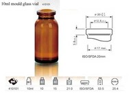 10ml amber/clear moulded glass vials