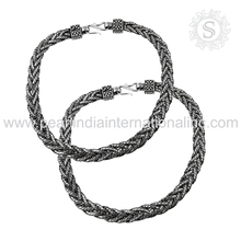 Professional Style 925 Sterling Silver Anklet Jewelry Wholesale Anklets Indian Silver Jewelry Anklets Wholesaler