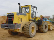 used Wheel loader WA380 Komatsu WA380-3 with grapple original Komatsu engine