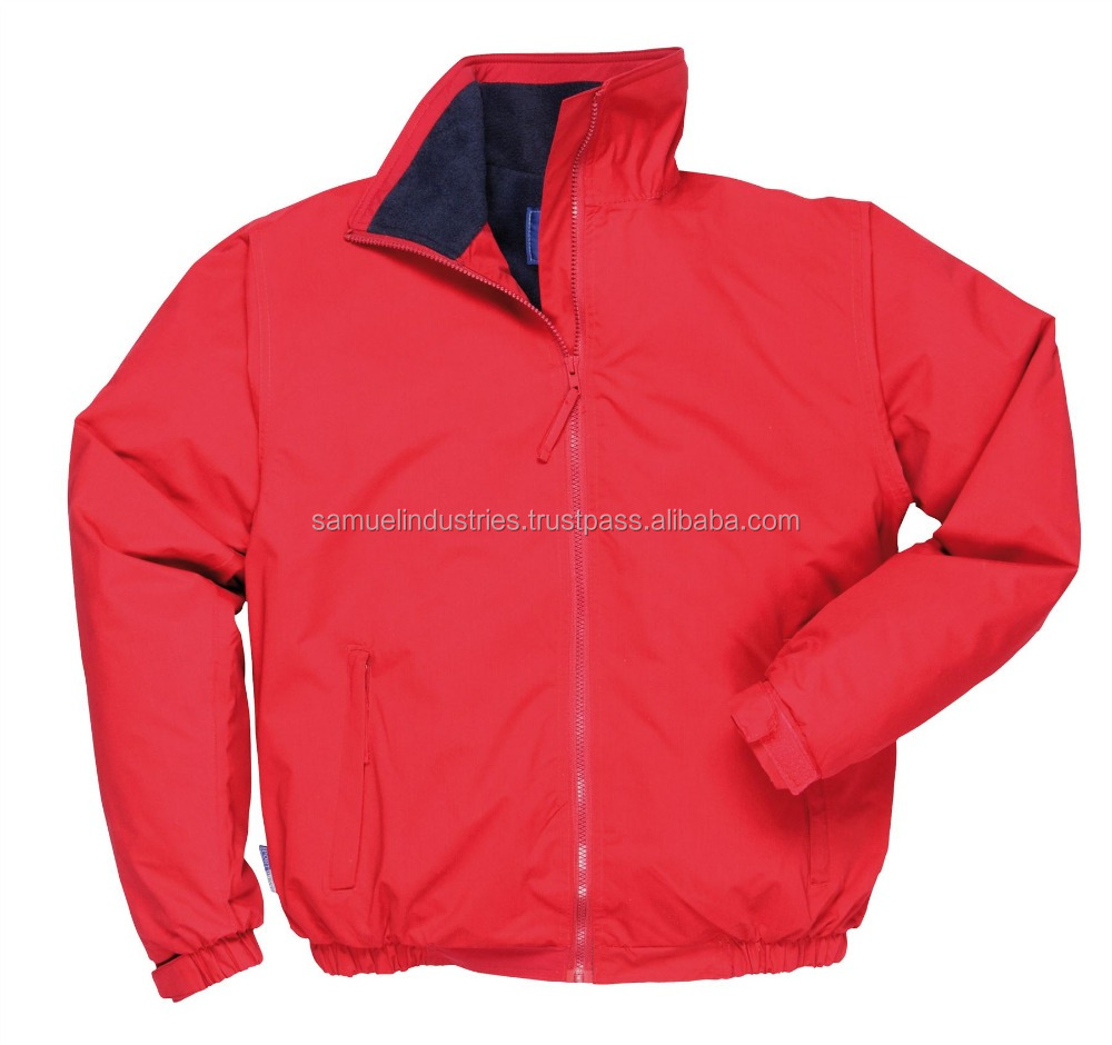 Lightweight windbreaker nylon jacket\ custom zipper up style bomber jackets\fashion waterproof windbreaker men red bomber jacket