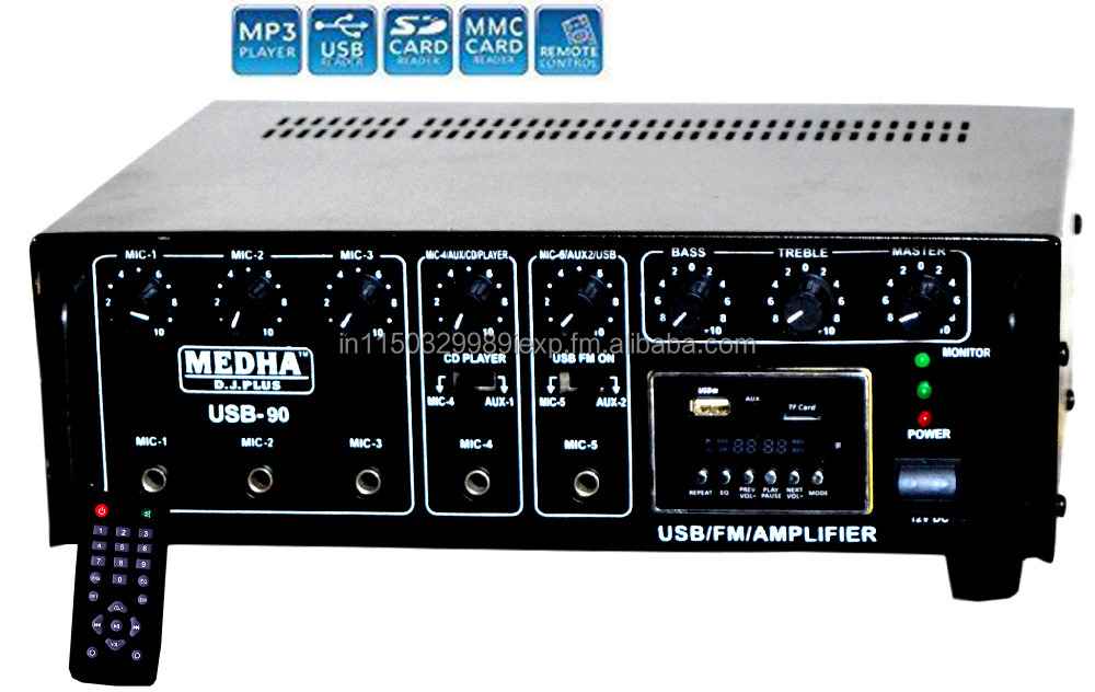 Medha Professional USB-90 High Power P.A. Amplifier With Digital Media Player
