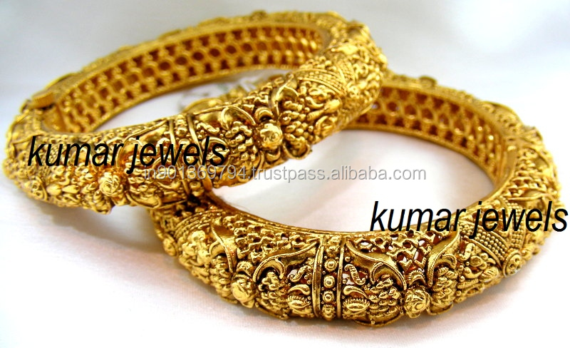 Ethnic gold plated bangles