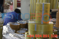 50mic x 48mm x 1000m clear BOPP PSA packing tape for carton sealing