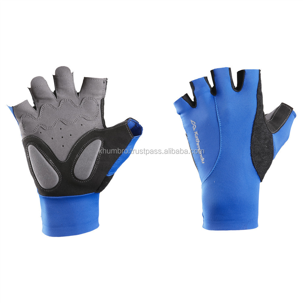 Ladies leather gloves blue - Sheep Leather Personalized Women Black Ladies Leather Gloves