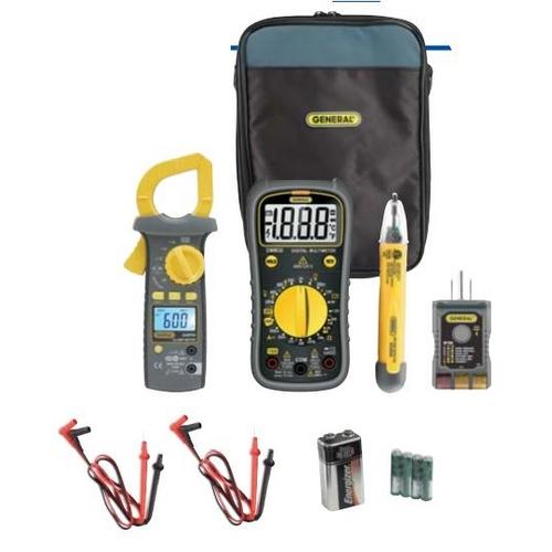 General Tools KT20, Electrical Test Kit with Clamp Meter, 8-Function Digital Multimeter